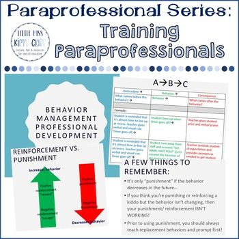 Special Education Paraprofessional / Teacher Assistant Professional Development