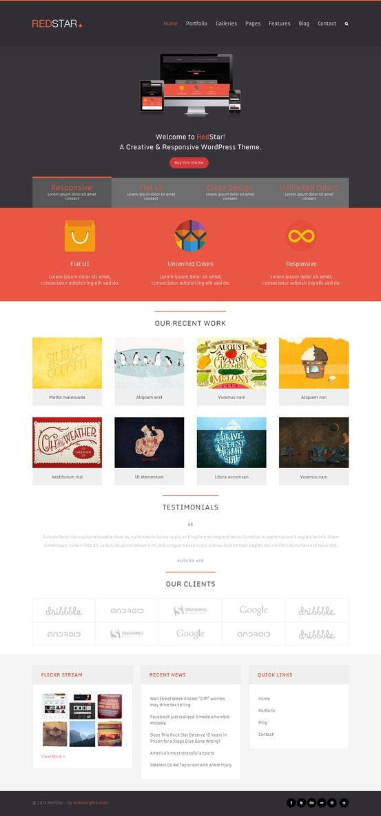 RedStar - A Creative WordPress Theme