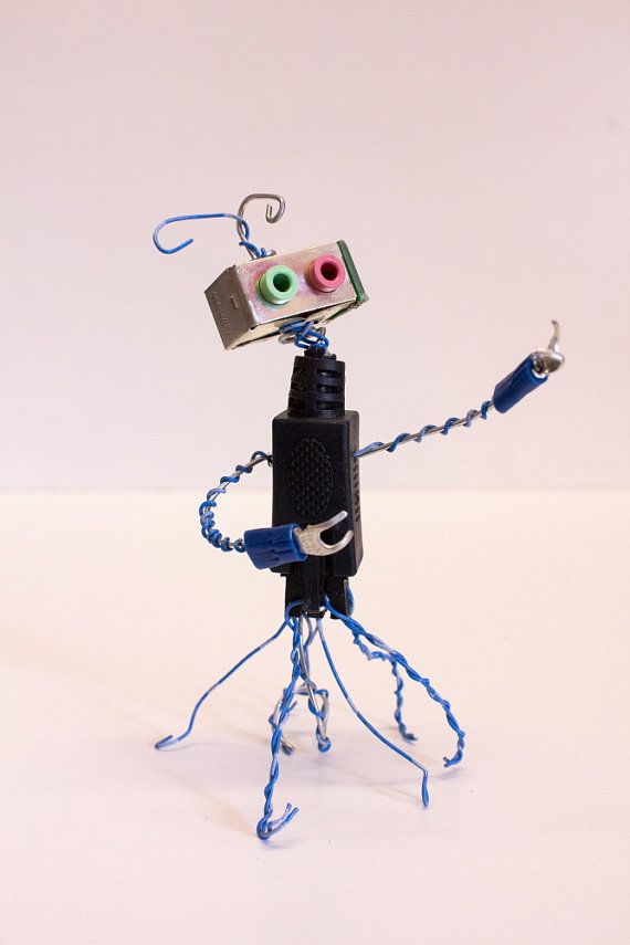 Robot Found Object Sculpture made from Computer by NancySolbrig