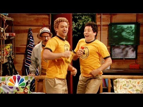 Young Jimmy Fallon & Justin Timberlake Sing At Summer Camp