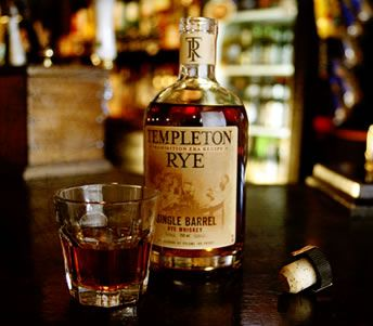Templeton Rye whiskey. Very smooth subtle flavor.