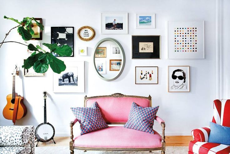 how to style a 3D gallery wall