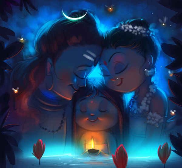 A recent study based on Indian mythology again, Before commencing on any new project I always ensure to do enough study, so that was just a quick scribble to decide the overall mood and color palette.