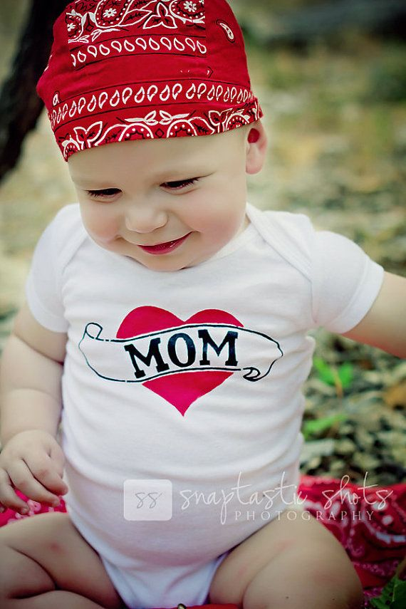 Handpainted Mom Tattoo Baby Bodysuit or Kid's by LucysArtEmporium, $16.00: Kids T Shirts, Mom Tattoos, Dads Motorcycles, Momma Boys, Baby To B, New Mom Gifts, Tattoo Baby, Handpaint Mom, Baby Bodysuit