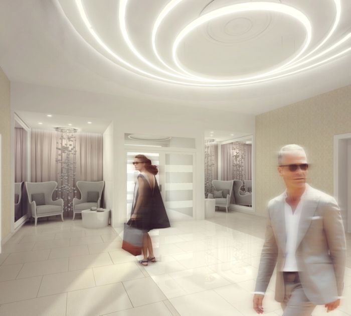 Entrance Lobby - Nursing Home in Warsaw, Poland - designed by Archimed Architecture, rendering