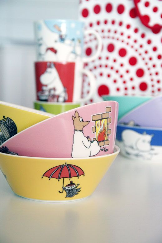 Moomin dishes by Arabia for the kids I've tried to get these for my Grandkids.