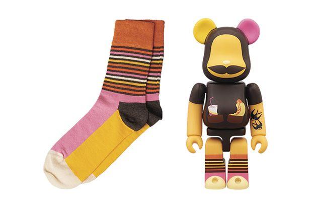 Medicom Toy x Happy Socks Bearbrick Collaboration.