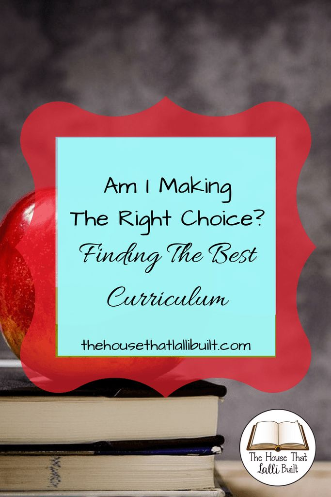 Having trouble narrowing down your curriculum choices? Find out what choices I made and how I made them.