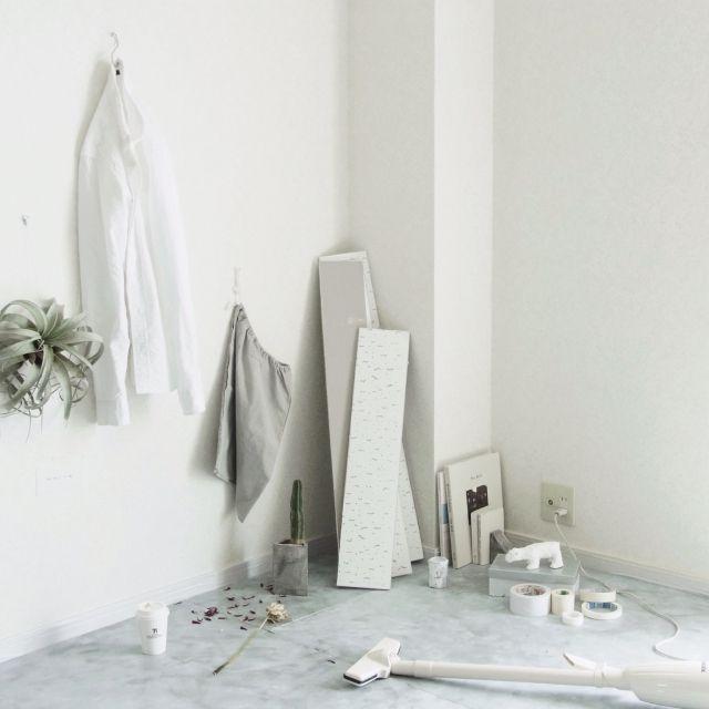 yasuakiさんの、塩系インテリア,壁/天井,メンズ部屋,DIY,IKEA,無印良品,賃貸,iMac,一人暮らし,NO GREEN NO LIFE,のお部屋写真