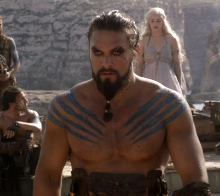 Jason Momoa as Khal Drogo in Game of Thrones - the hotness...