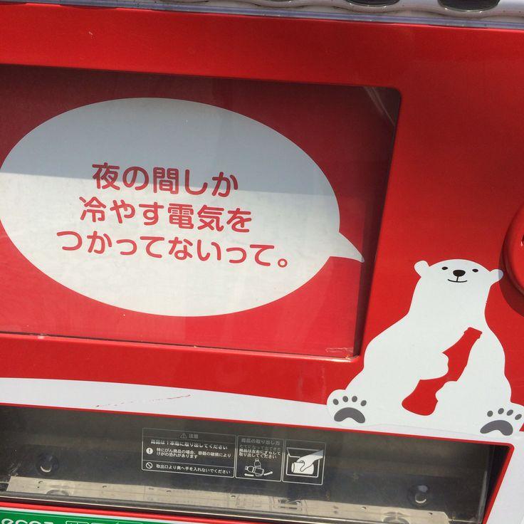 あるブランドの自販機のシロクマ その2(=゚ω゚)ノ 夜間の電力で冷気蓄積(=゚ω゚)ノ