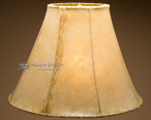 """Rawhide Lamp Shades 20"""" (Bell Style) - Mission Del Rey Southwest"""