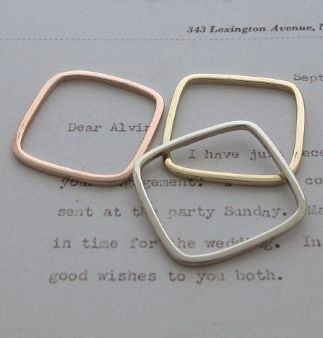 erica weiner - square stacking ringPretty Accessories, Stacked Rings, Erica Weiner, 175 00 Erica, Stacking Rings, Squares Stacked, Weiner Stacked, Squares Rings, Jewelry Boxes