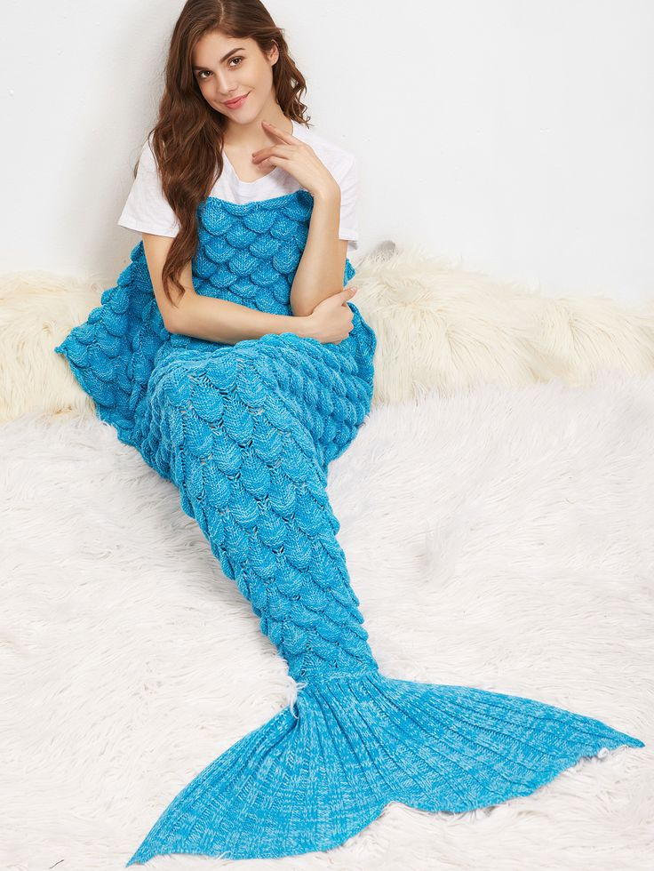 Shop Sky Blue Fish Scale Mermaid Blanket online. SheIn offers Sky Blue Fish Scale Mermaid Blanket & more to fit your fashionable needs.