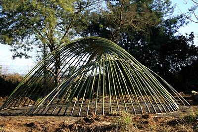 bamboo structure (click through to see it covered)