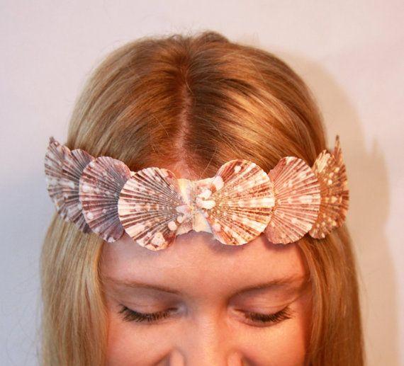 2 in 1 - Medium Shell Natural Pink Mermaid-Inspired Seashell Convertible Crown & Waist Belt. $55.00, via Etsy.