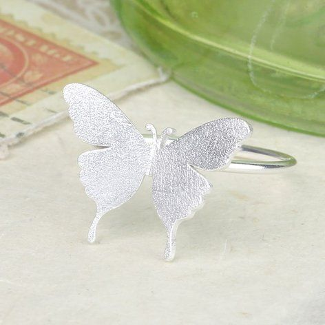 Silver Butterfly Ring at lisaangel.co.uk