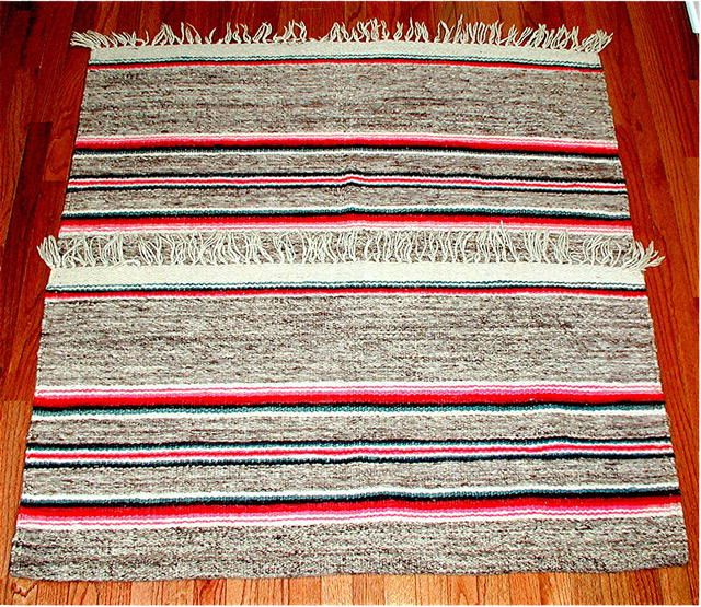 PERU CUZCO REGION VINTAGE HANDLOOM ALPACA RUG. Primary Natural Dyes No Bleeds. Very Large and Complete. Ground Loomed. Tassled NO SHOW of WEAR. TRADITIONAL COLORS. A Virtually MINT EXAMPLE. Argentine Estat