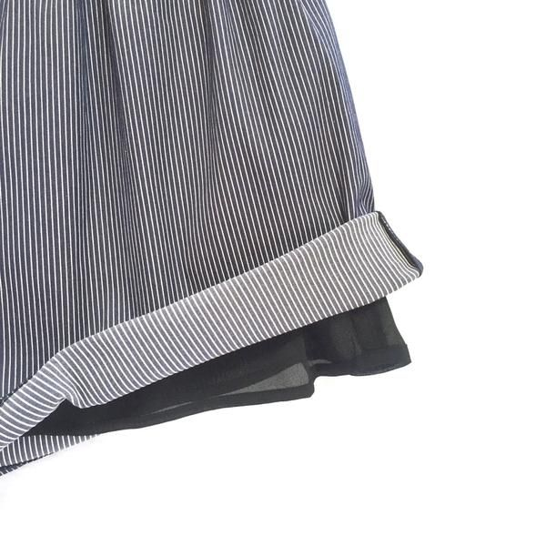 """""""Inventive"""" is the name of this lovely striped skirt! Wear with a big wool sweater for a comfy autumn outfit ♥ https://www.beyondyourclouds.com/products/inventive-skirt"""