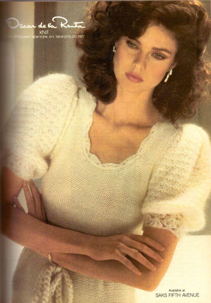 1983 Oscar De La Renta Knit Carol Alt Print Advertisement Ad Vintage VTG 80s   eBay