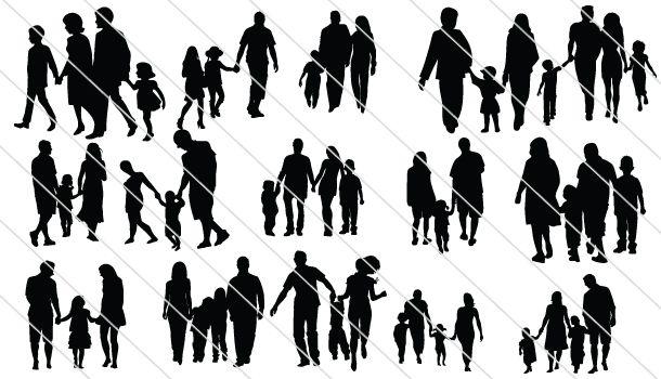 family silhouettes 21 silhouette clip art pinterest