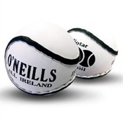 All Ireland Hurling Ball. In Irish it is called a sliotar, and pronounced 'slitter'.