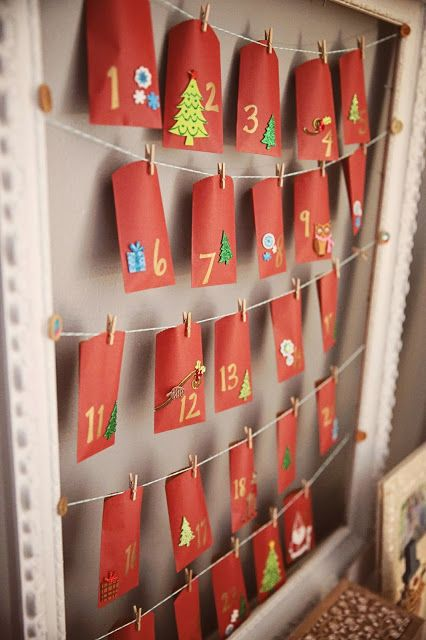 A DIY Advent calendar--This Full House   A DIY mom's journey to make a house a home   Home Improvement Projects and Makeovers