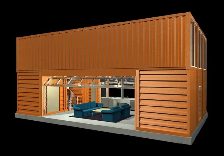 House designed using shipping container modules - Shipping container home design
