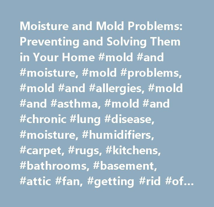 Moisture and Mold Problems: Preventing and Solving Them in Your Home #mold #and #moisture, #mold #problems, #mold #and #allergies, #mold #and #asthma, #mold #and #chronic #lung #disease, #moisture, #humidifiers, #carpet, #rugs, #kitchens, #bathrooms, #basement, #attic #fan, #getting #rid #of #mold, #controlling #mold…