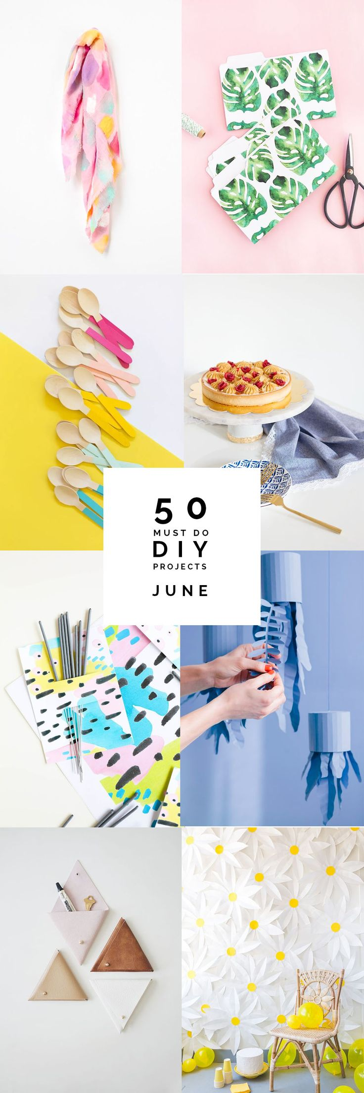 It's that time again. Happy July!I'm excited tostart a fresh new month and I'm getting some summer inspiration rounding up all these gorgeous DIY things that have been posted over the last 30 days. I've been amazed by the ingenuity and originality of all the tutorials I've seen over the past month.I'm feeling so energised …