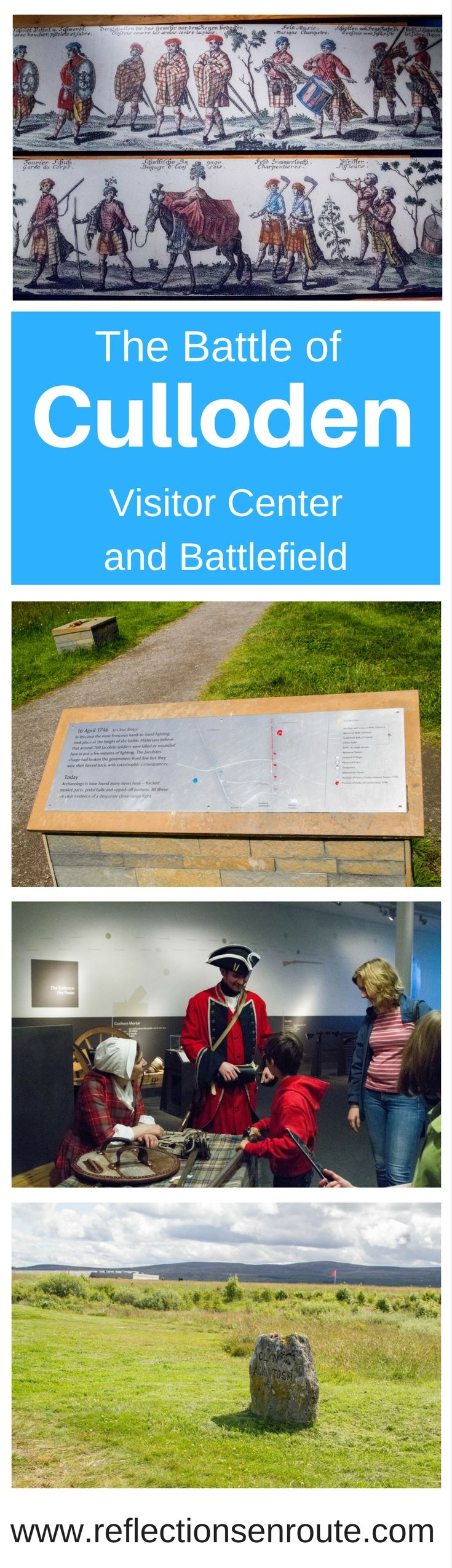 The Culloden Battlefield and Culloden Visitor Center will astound you with vivid, hands-on history. Glimpse into one of the bloodiest battles in Scotland. Click here to learn more. #scotland #militaryhistory #Scottishclans #daytrip #museum