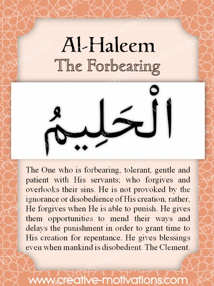 Day 35: Al-Haleem - The Forbearing Allah is The One who is forbearing, tolerant, gentle and patient with His servants; who forgives and overlooks their sins. He is not provoked by the ignorance or disobedience of His creation, rather, He forgives when He is able to punish. He gives them opportuni