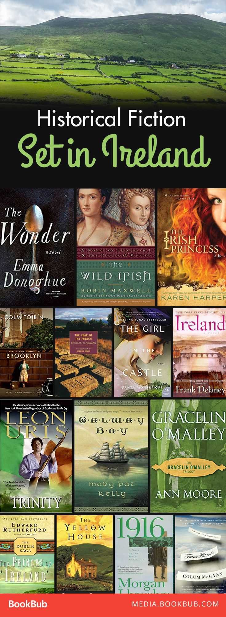14 historical fiction books set in Ireland. These novels are great for St. Patrick's Day or all year round!