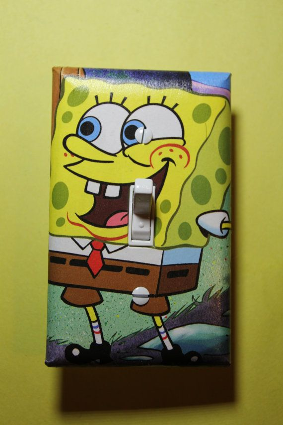 Sponge Bob Square PantsLight Switch Plate Cover by ComicRecycled, $7.99