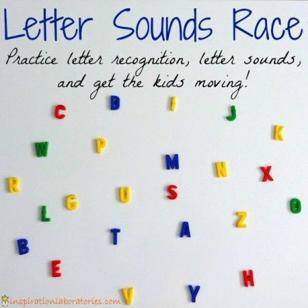A Race to Learn Phonics - a fun way to get the kids moving and learning letter sounds. .. We're playing tomorrow