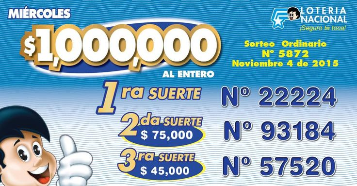 Resultados Loteria Nacional de Ecuador miercoles 4-11-15. Ver resultados: http://wwwelcafedeoscar.blogspot.com/2015/11/loteria-nacional-de-ecuador-resultados.html
