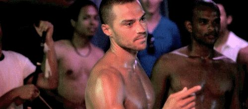 "Still nothing? Damn. Well here is Jesse Williams being all ""come hither"" with his finger. 