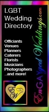 LGBT Wedding Directory - Officiants, Venues, Planners, Caterers, Florists, Musicians, Photographers... and more!