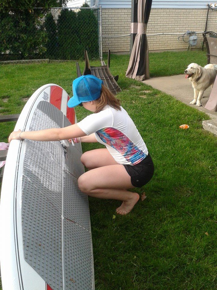 Taking care of the #SUP board #Jimmystyks #Finmade