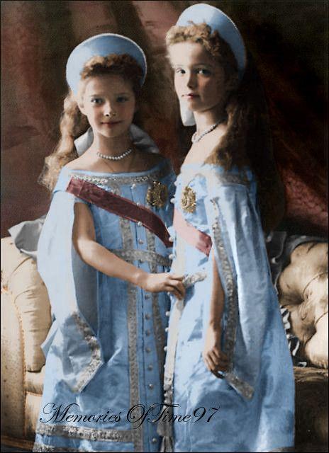 #Grand Duchess Olga Nicolaevna Romanov & Grand Duchess Tatiana Nicolaevna Romanov