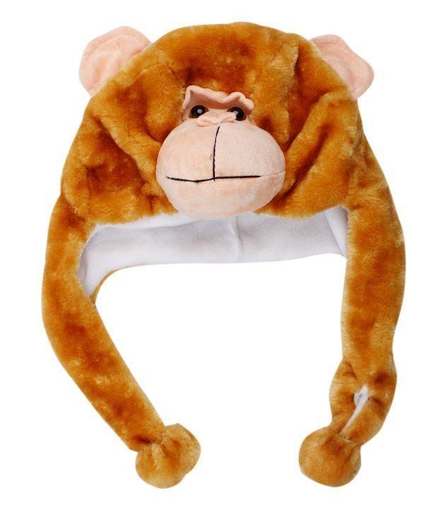 Bizarro Brown Monkey Shaped Woollen Cap