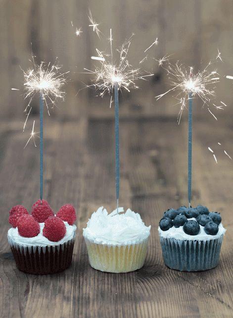 Felicitaciones Animadas con Cupcakes.