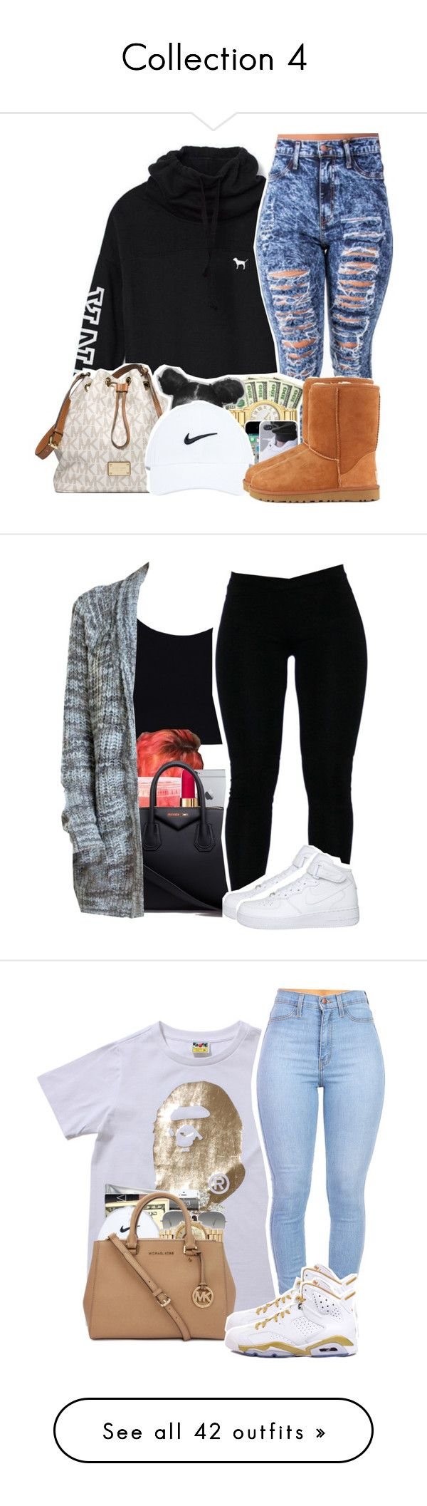 """Collection 4"" by sourpatchkid101 ❤ liked on Polyvore featuring Victoria's Secret, MICHAEL Michael Kors, UGG Australia, Chanel, Givenchy, NIKE, …"