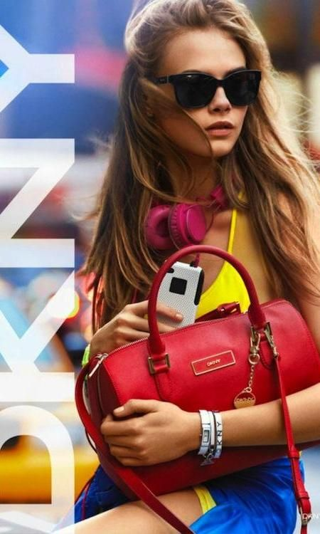 Cara Delevingne for DKNY 2013 campaign. Love all the color.