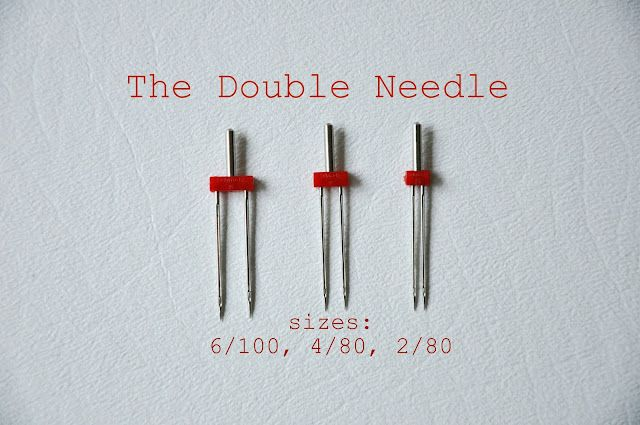Tutorial on how to sew with a double needle--works great on knits.