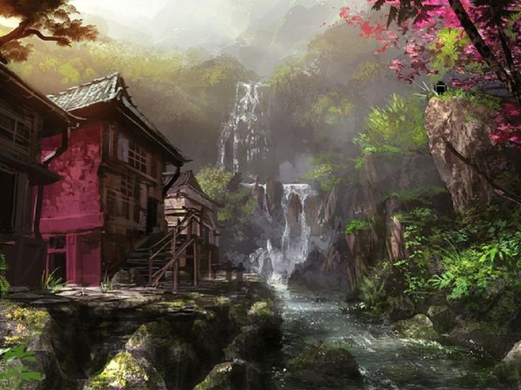 Waterfalls pictures for screensavers waterfall - Mystical background pictures ...