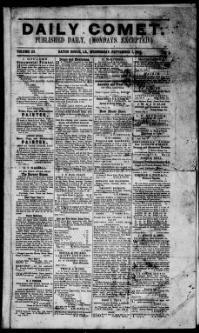 EAST BATON ROUGE PARISH, Louisiana - Baton Rouge - 1850-56 - The Daily Comet. « Chronicling America « Library of Congress