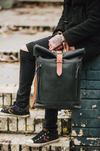 Highway Backpack (Black/Orange)