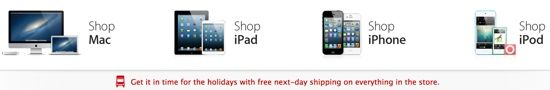 Apple Online Store Offering Free Next Day Shipping on Nearly Everything -