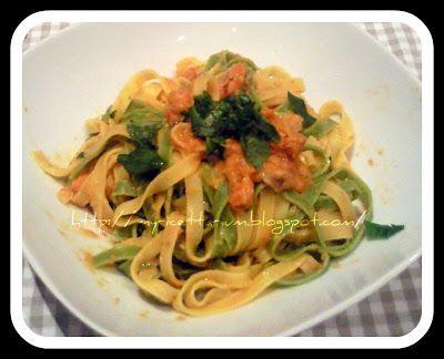 My Ricettarium: Fettuccine alla crema di gamberetti